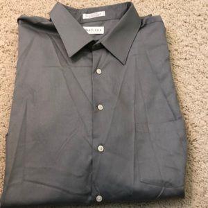 Van Heusen Lux Sateen Dress Shirt.18 1/2 34/35 Big